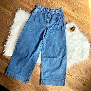 Wide-leg high waisted jeans 👖